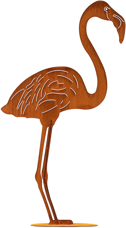 Flamingo 2er-Set Teichdeko für den Gartenteich aus Rost