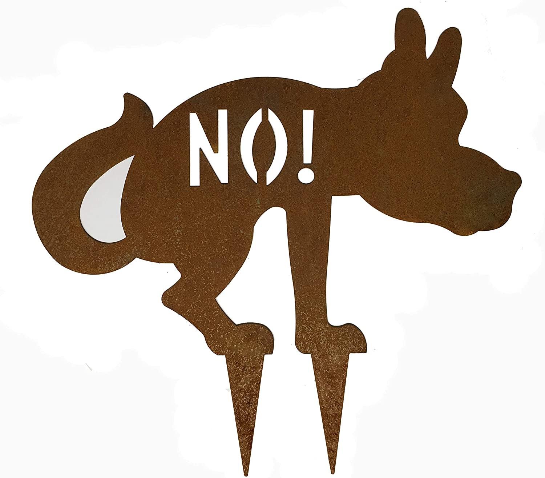 Hund-No Beetstecker in Edelrost-Optik
