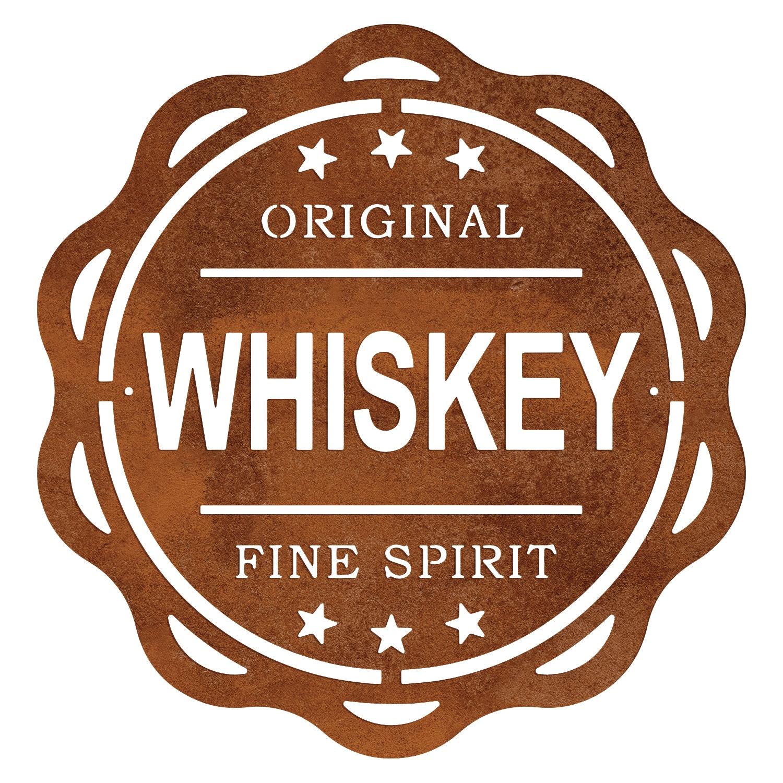 Schild - Original Whiskey - in Edelrost-Optik