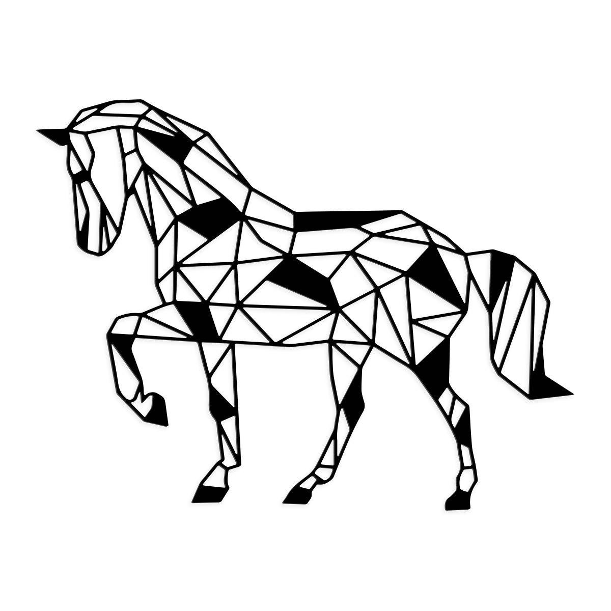 Geometrisches Pferd schwarz
